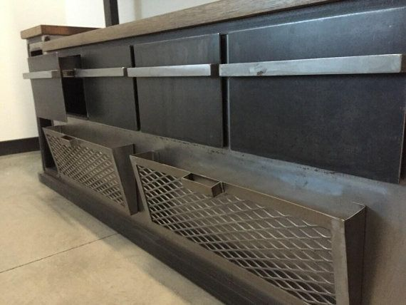 Credenza Industrial Fai Da Te : Modern industrial office credenza and shelving unit decor