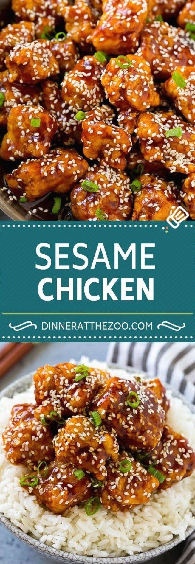 Sesame Chicken Recipe Crispy Chicken Asian Chicken sesame ...