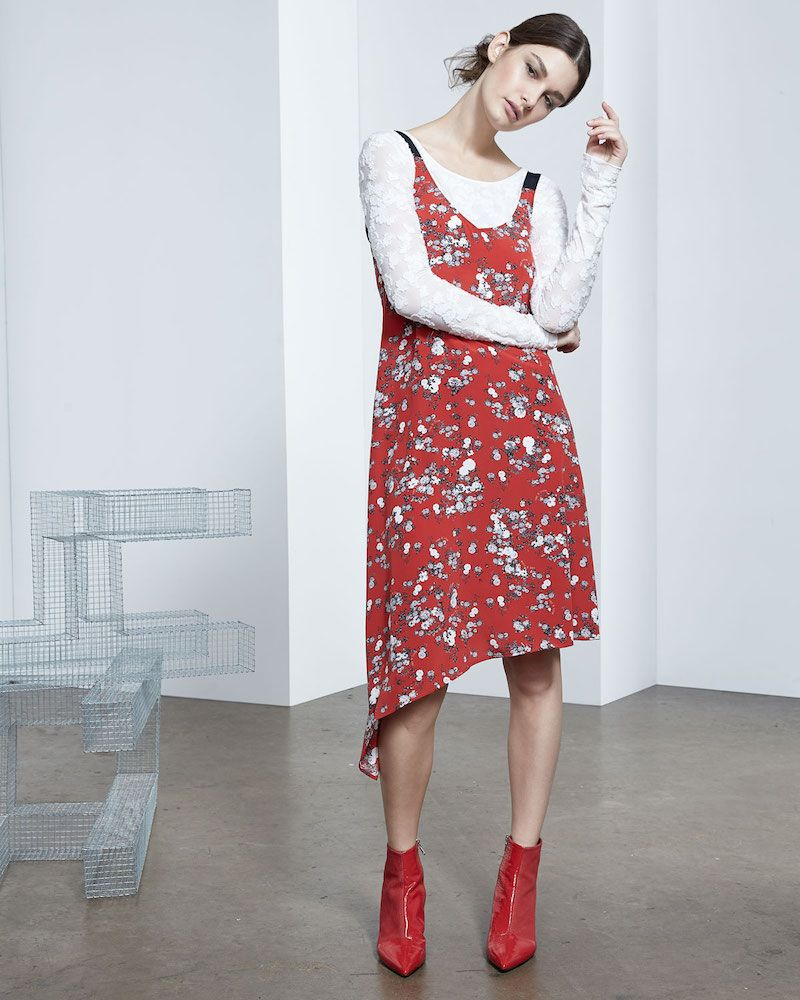 22fc15e6db1ae7 Rag   Bone Zoe V-Neck Sleeveless Floral-Print Silk Dress