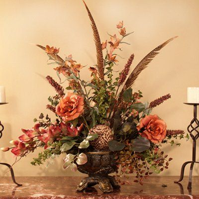 silk flower arrangements for home designer silk floral arrangement ar233 120 floral home - Silk Arrangements For Home Decor
