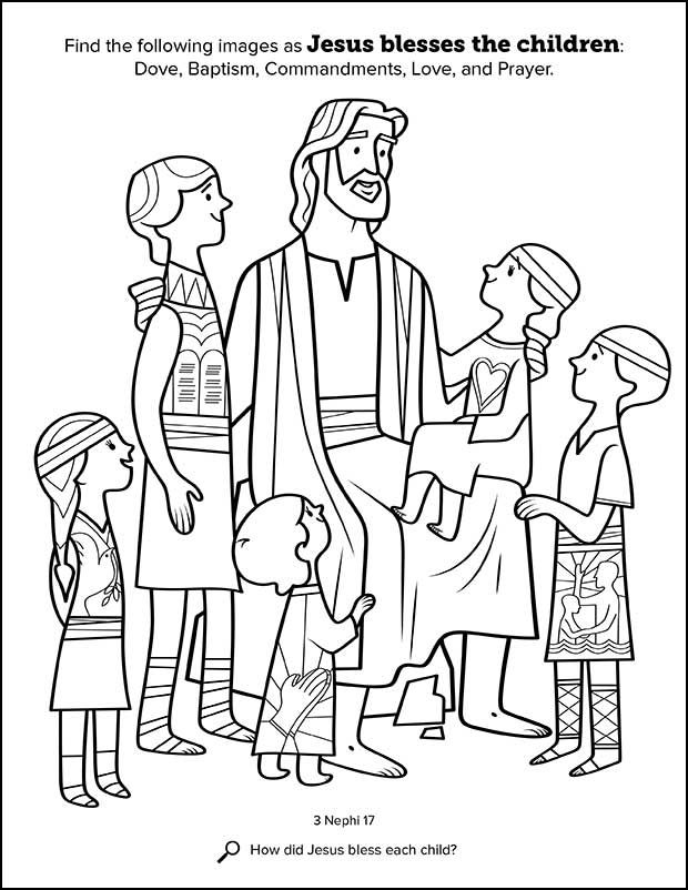 Kids Having Fun With New Book Of Mormon Stories Coloring Book Church News And Events Jesus Coloring Pages Book Of Mormon Stories Lds Coloring Pages