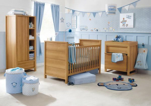Baby Boy Nursery Furniture Sets with Wooden Nursery