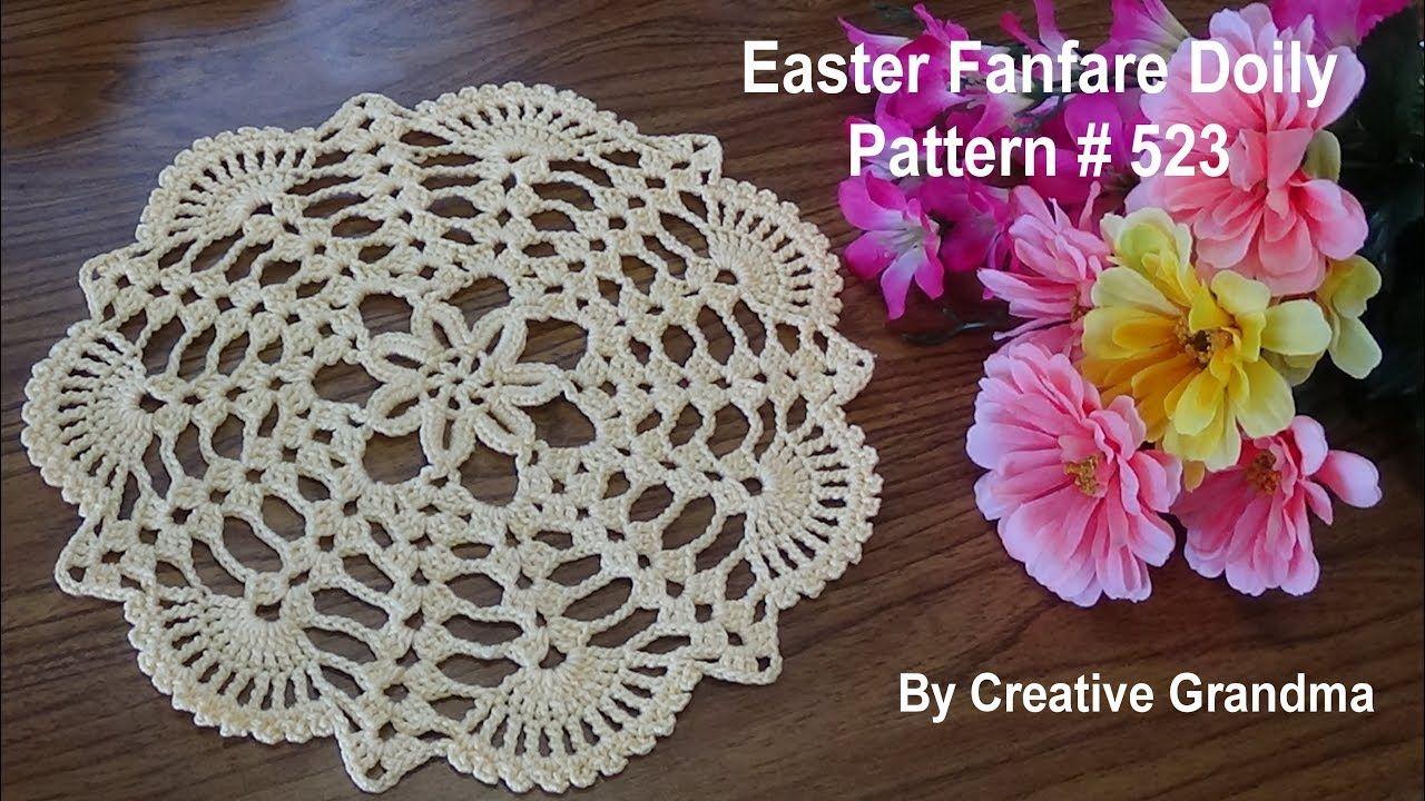 Easter Fanfare Doily Crochet Tutorial Youtube Mbulesa Tavoline