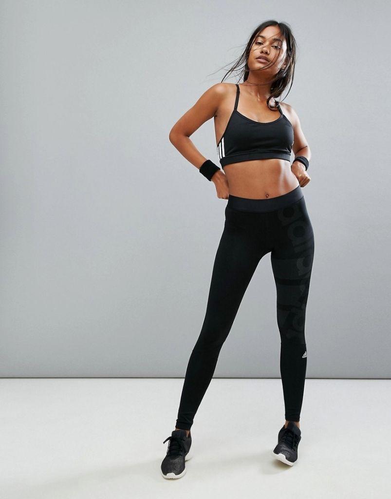 a few days away factory outlet quality products ADIDAS Damen adidas – Sportleggings in Schwarz – Schwarz, Gr ...