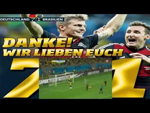 Deutschland 7 1 Brasilien Wm 2014 Halbfinale Alle Tore World