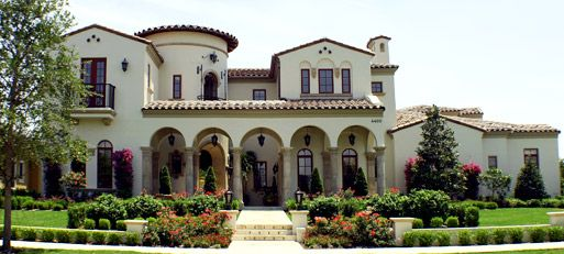 Mission style house-- although this one is over-the-top... I love ...
