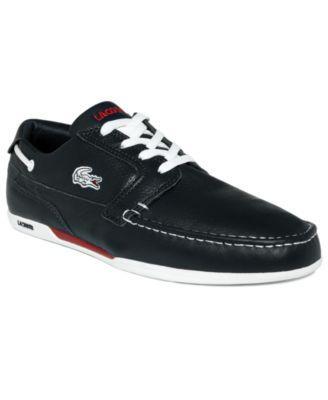 32d120acf Lacoste Dreyfus Leather Boat Shoes