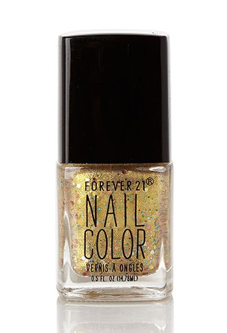 Gold Confetti Nail Polish Forever21 1000121378 With Images