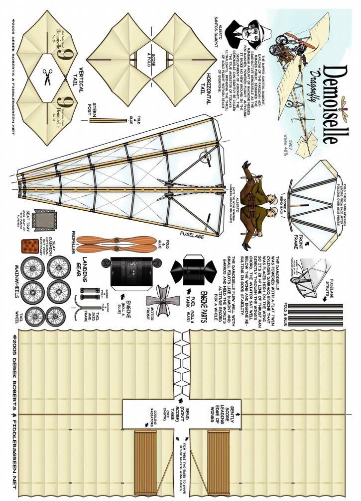 Demoiselle Paper Models Paper Airplane Models Paper Plane