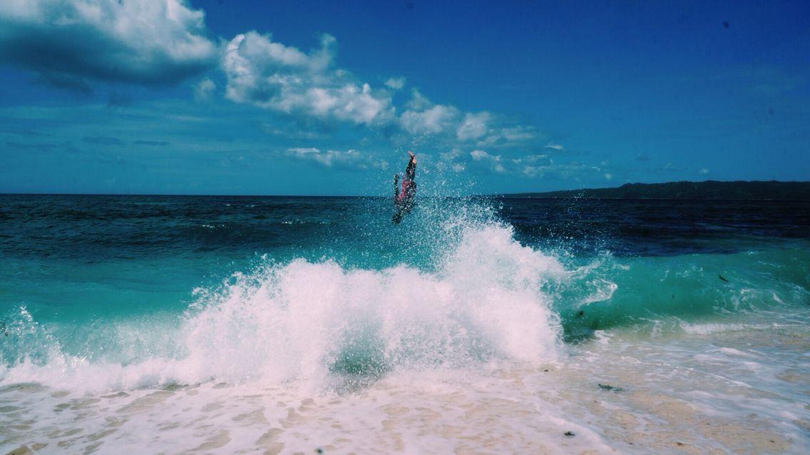 Skim boarder at Puka Shell Beach, Boracay, Philippines