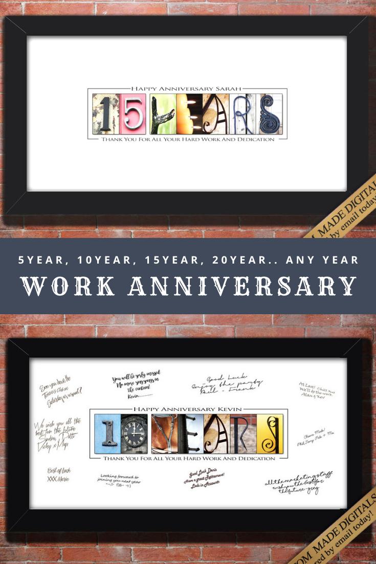 Gift For Employee Gift For Bosses Day Boss Lady Office Gift For Men 5 10 15 20 25 30 35 40 45 50 55 60 Year Work Anniversary Work Anniversary Gifts Work Anniversary Employee Gifts