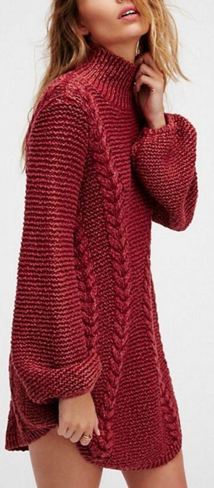 616b9625fe5e ▷ 1001+ Idées pour porter votre robe en laine + les looks hot ...