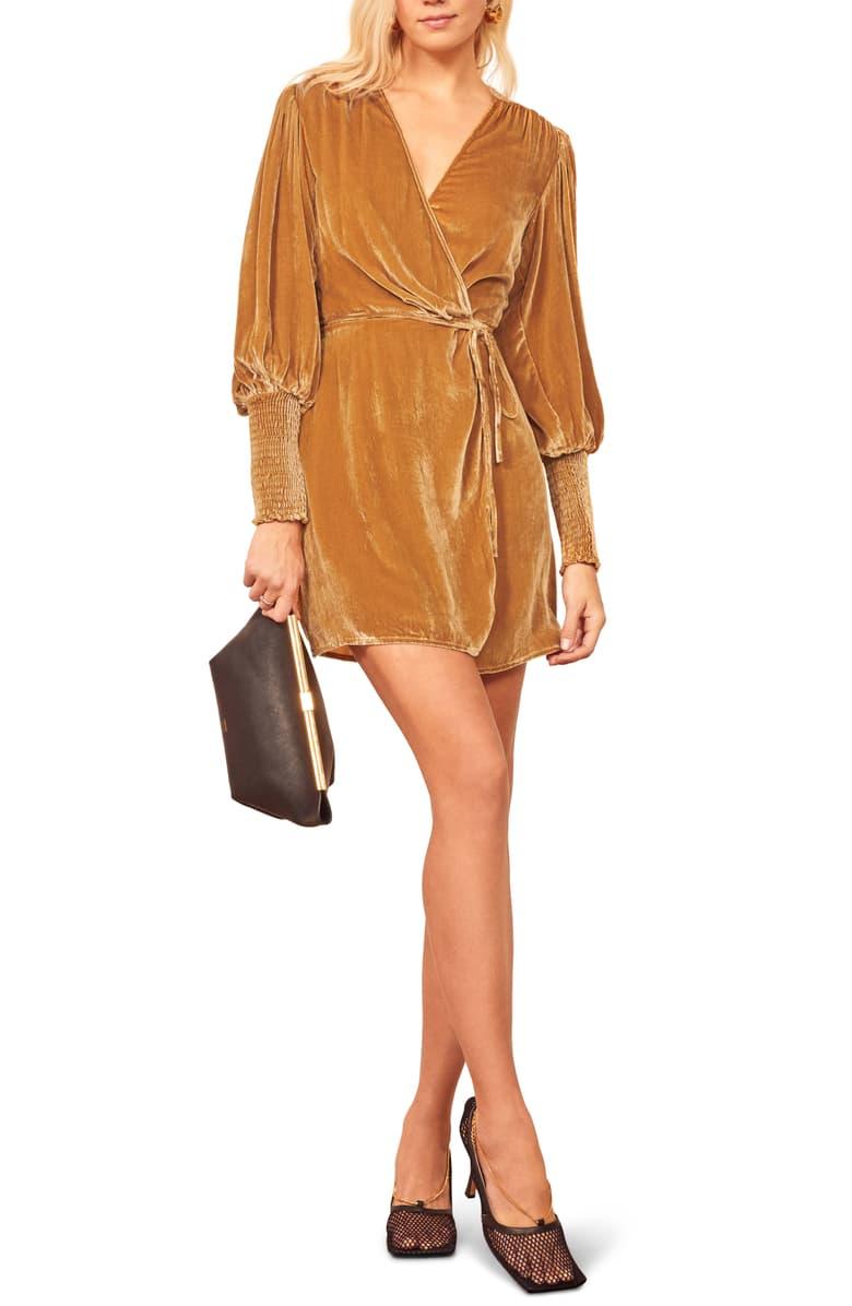 Reformation Boheme Long Sleeve Wrap Dress Nordstrom Long Sleeve Wrap Dress Wrap Dress Wrap Dress Styles [ 1196 x 780 Pixel ]