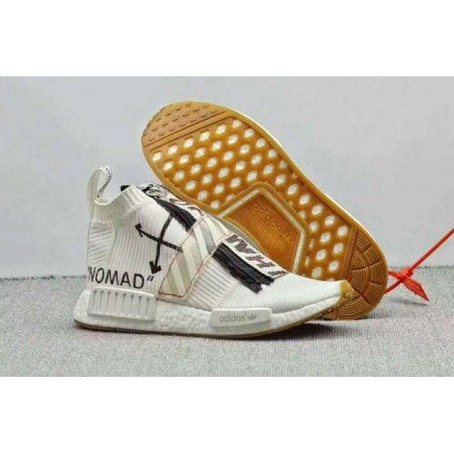 newest 07b19 77e8e Off-White x adidas Originals NMD City Sock Skor Bílý Černá - Boty Off-White  x adidas