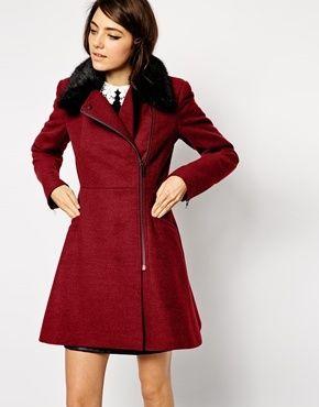 Pelzkragen mantel