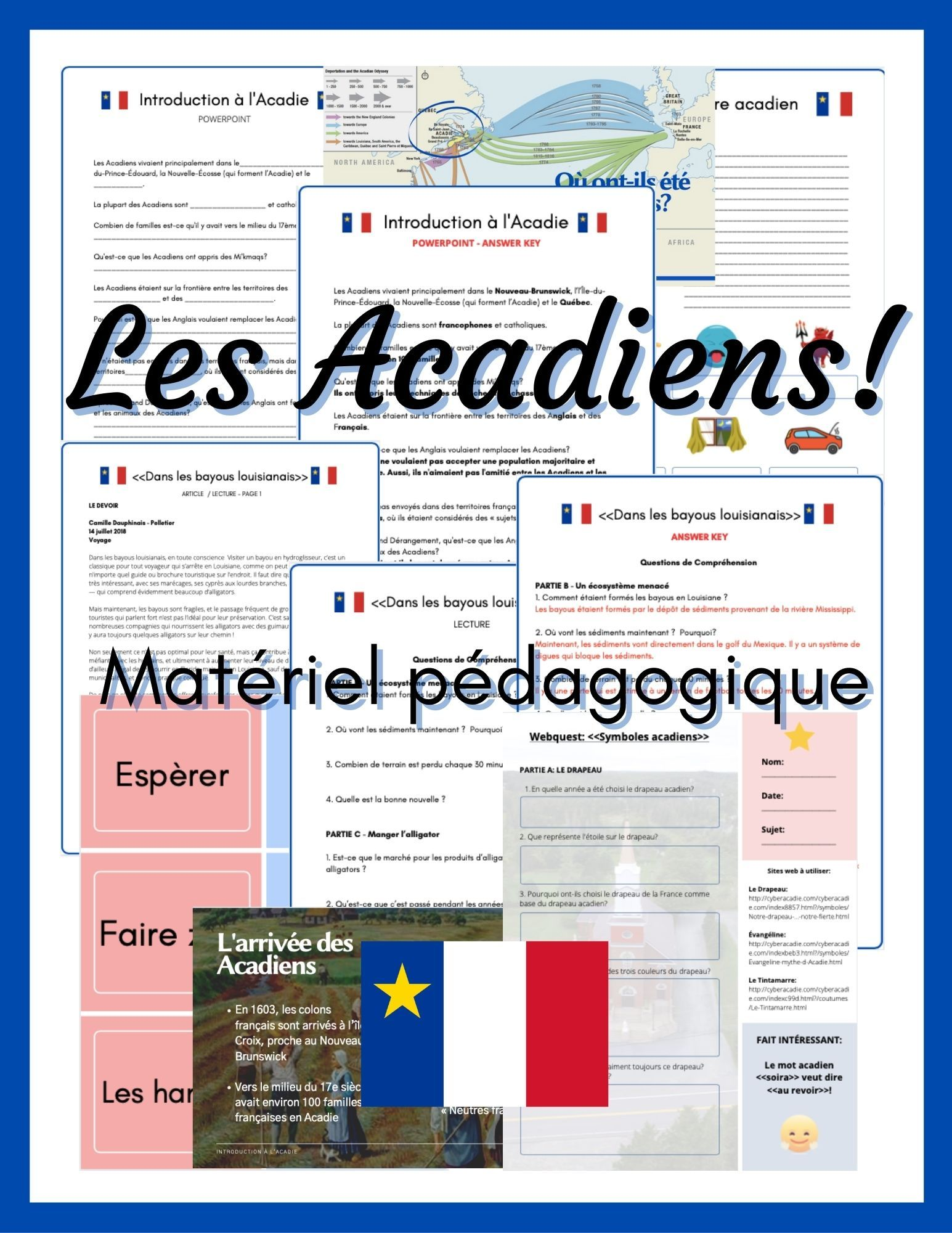Les Acadiens Teaching Materials en français! in 2020