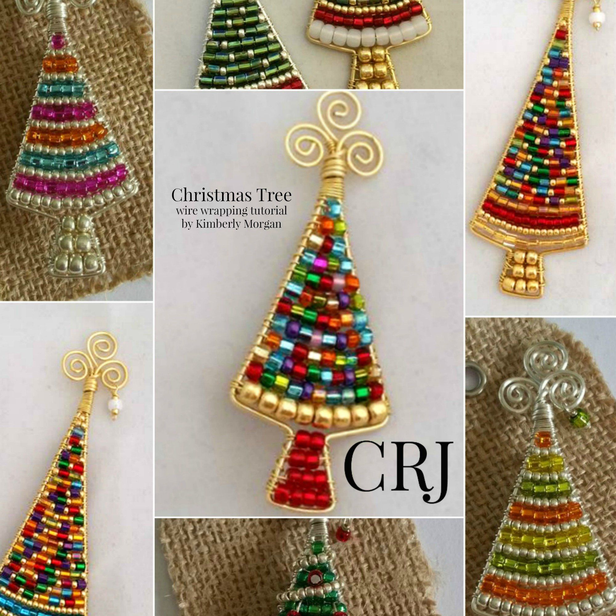 The Christmas Tree Pin Tutorial Step By Step Instructions And Photographs Diy Downloading Pdf Instructions Wire Wrapping Seed Beads Simple Holiday Gifts Christmas Tree Kit Little Christmas Trees