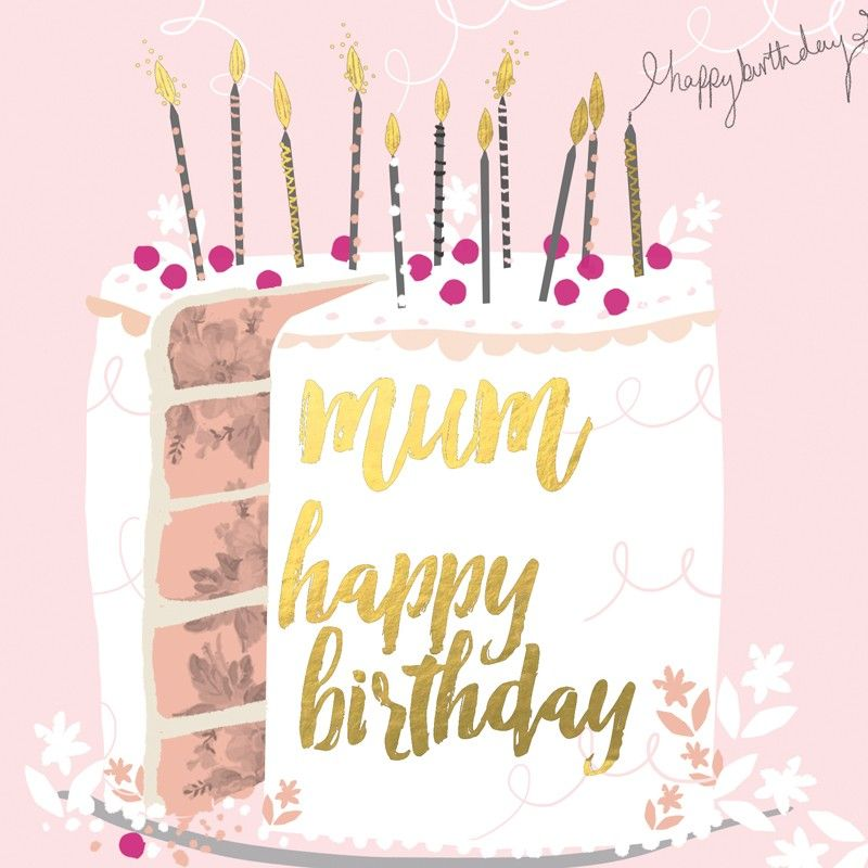 Beautiful Birthday Card Featuring A Birthday Cake, With
