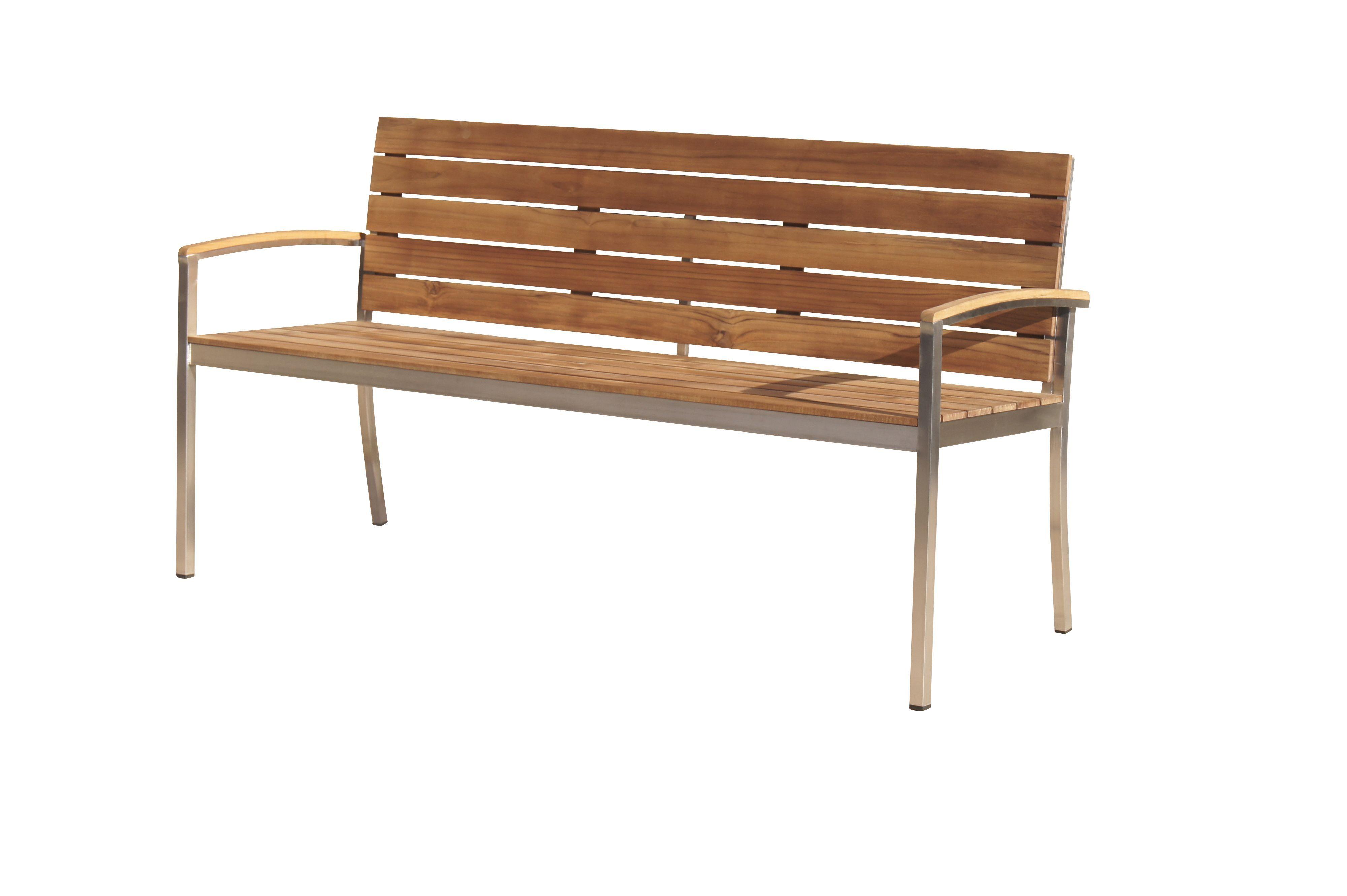 OUTFLEXX Gartenbank Teak 3 Sitzer 160x55x80cm ...