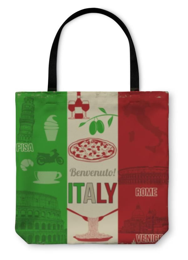 Tote Bag, Italy Travel Poster