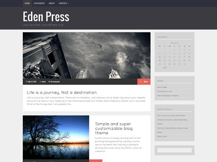 Eden Press - Responsive WordPress Blog Theme   Wordpress blog themes ...