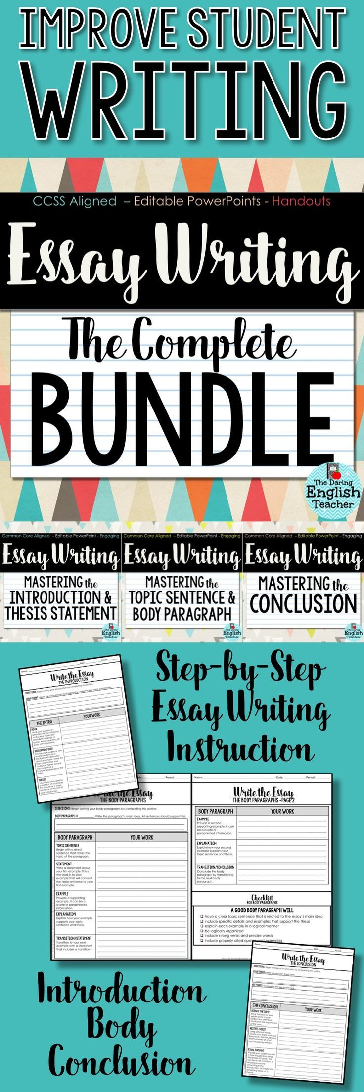 Essay Writing Unit: Teach Your Students To Master The Essay. Middle School  ...
