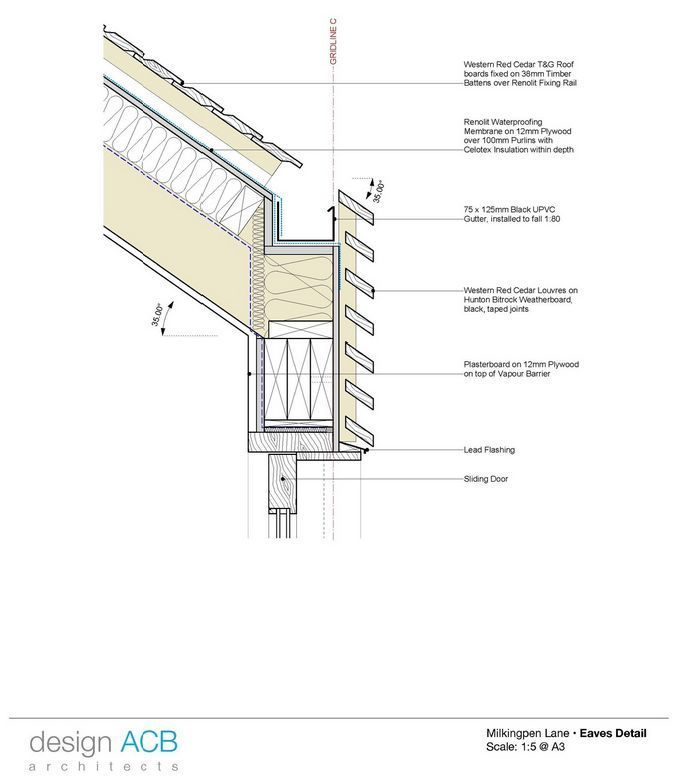 2d Detail Roof Cladding Timber Roof Roof Construction