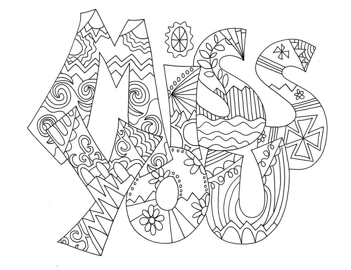 Miss U Card Coloring Coloring Pages Valentine Coloring Pages