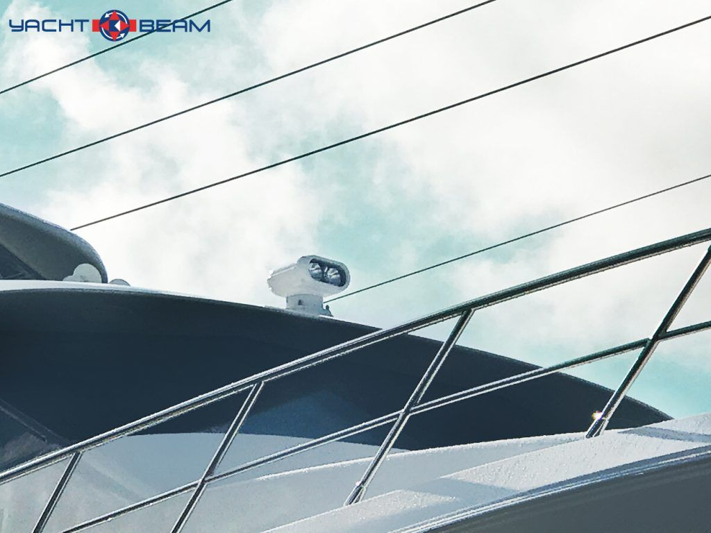 1mm Yacht Beam Searchlight Twin 35 Watt Metal Halide Hid Lamps Create A Narrow Beam Searchlight Perfect For Large Sport Ya Sport Yacht Yacht Searchlight
