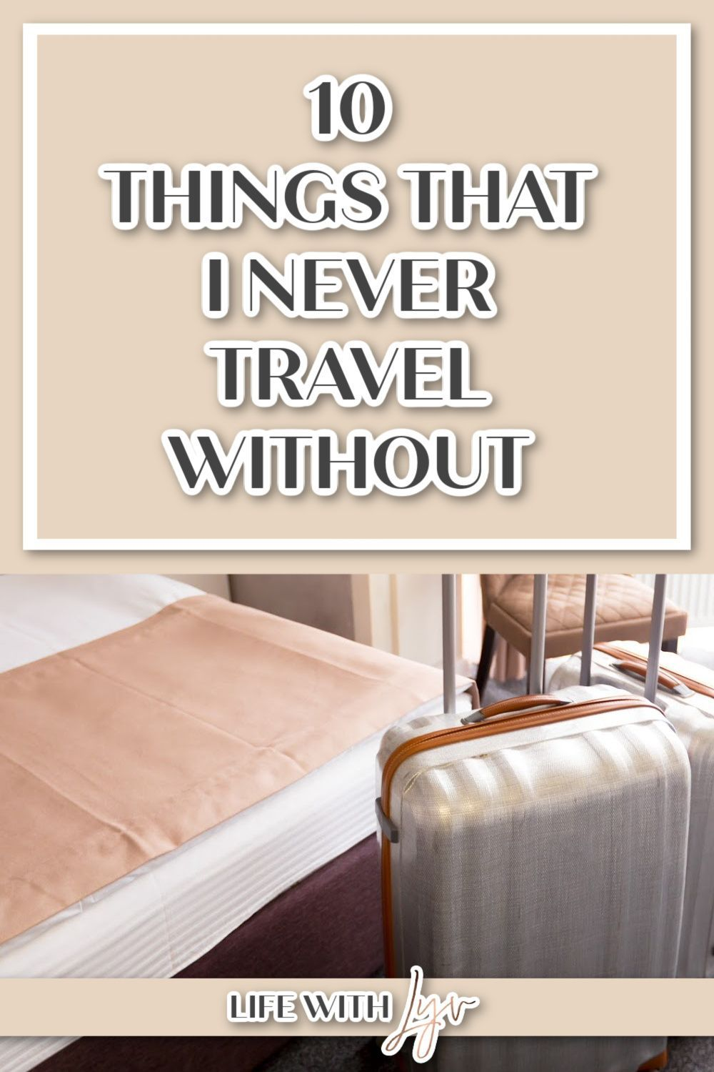 Are you struggling on narrowing down what to pack and what not to pack? This is a list of tried and true items that you should never travel without! #TravelEssentials #TravelTips #TravelDestination #InternationalTravel #LongFlight #JetLagRemedy