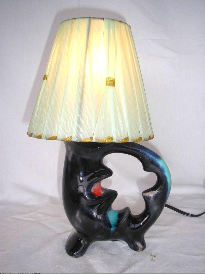 Lampe zoomorphe Vallauris design 1950 60