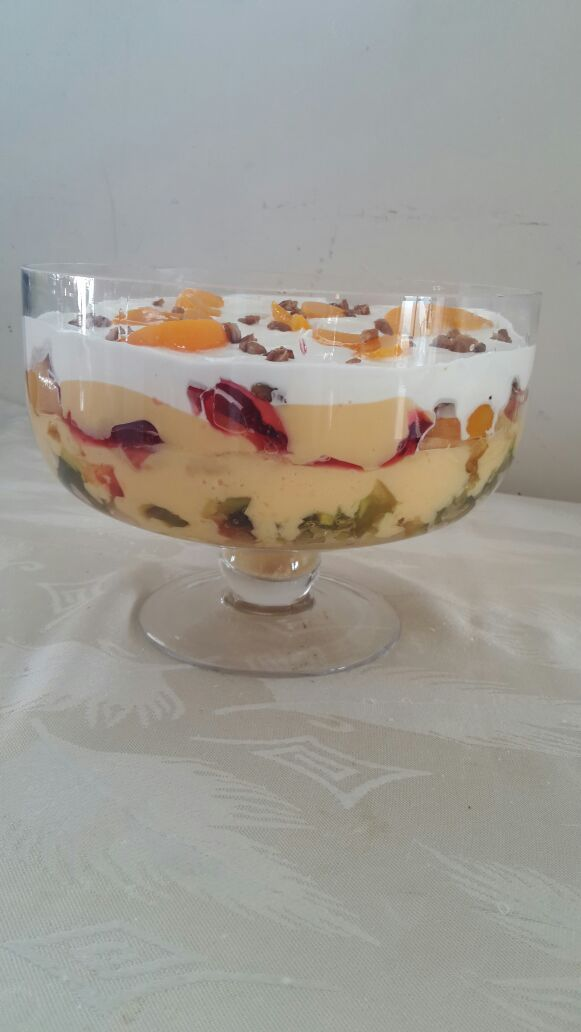 """When a client sends me photos on a Sunday saying: """"Can't wait for a special occasion to use my new trifle bowl!"""" PRICELESS!"""