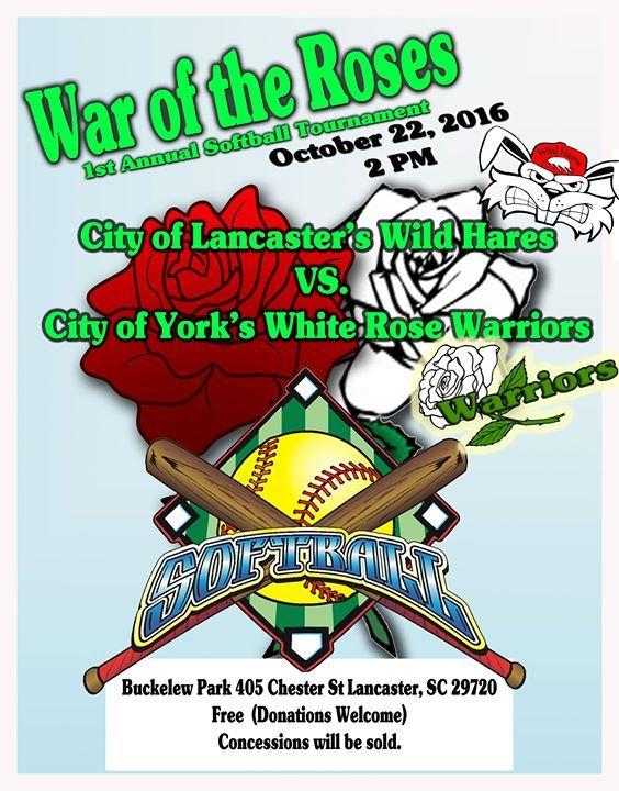 War Of The Roses Lancaster Vs York Softball Tournament See Lancaster Sc 22 October Https Www Evensi U Softball Tournaments Wars Of The Roses Lancaster