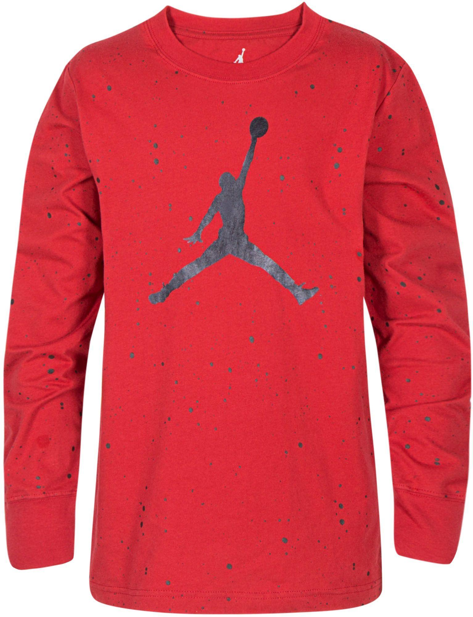 79a9d9e1e9b0ce Jordan Boys  Speckle Long Sleeve Shirt