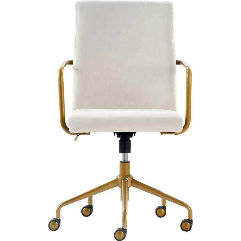 Giselle Conference Chair Home Office Chairs Gold Desk Chair Elle Decor