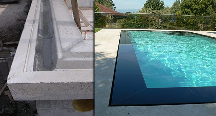 Piscine miroir ou d bordement garten pinterest for Piscine miroir et debordement