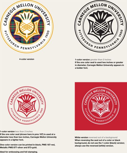 the official seal of carnegie mellon university was created in 1967  when the carnegie institute