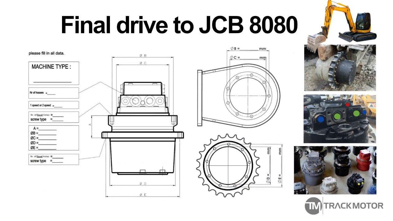 Jcb 8080 Final Drive Track Motor Fahrmotor Reduktor Xoda Final Drive Track Finals