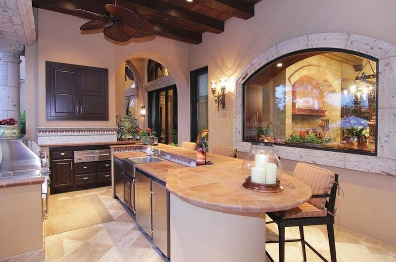 Unparalleled Woodlands Masterpiece In Texas Usa Outdoor Kitchen Decor ℭƙ Beautiful Kitchens Home Outdoor Kitchen