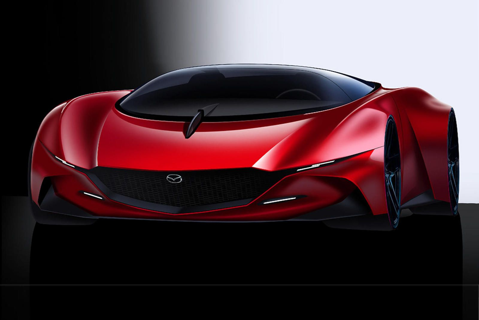 Stunning Mazda 9 Is The Mid Engine Supercar Mazda Needs To Make What If Mazda Made A Mid Engine Ferrari Fighter Super Cars Mazda Honda Cars
