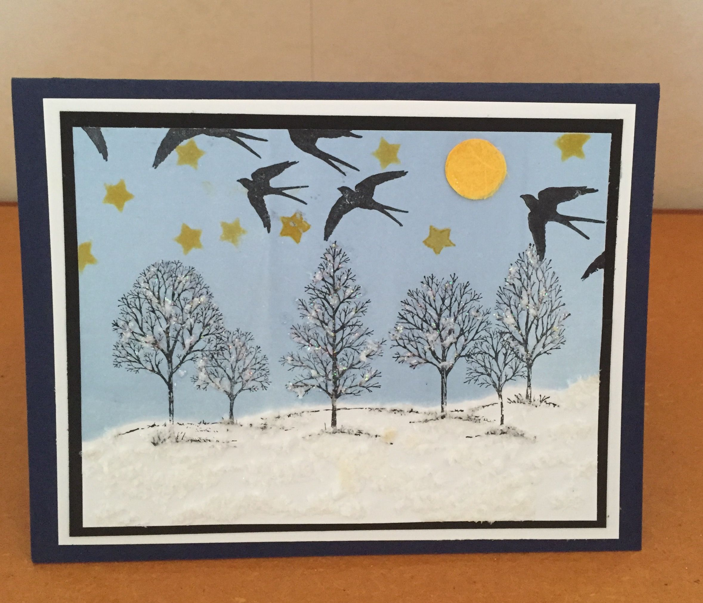 Lovely As A Tree With Brayering In Bashful Blue Snow Highlighted