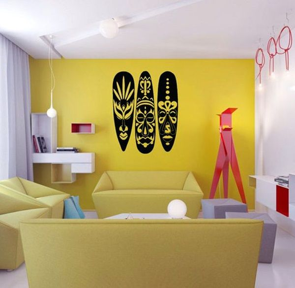 African-Masks-Wall-Decoration-Ideas-3.jpg (600×585) | African masks ...