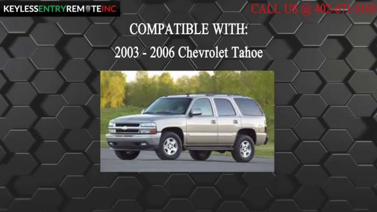 How To Replace Chevrolet Tahoe Key Fob Battery 2003 2004