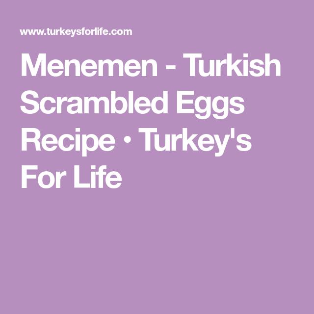 Menemen - Turkish Scrambled Eggs Recipe • Turkey's For Life