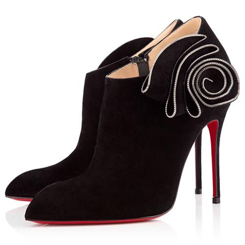 7adb2f6994 Christian Louboutin Mrs Baba Ankle Suede Ankle Boots 100mm Black Botas  Marrones