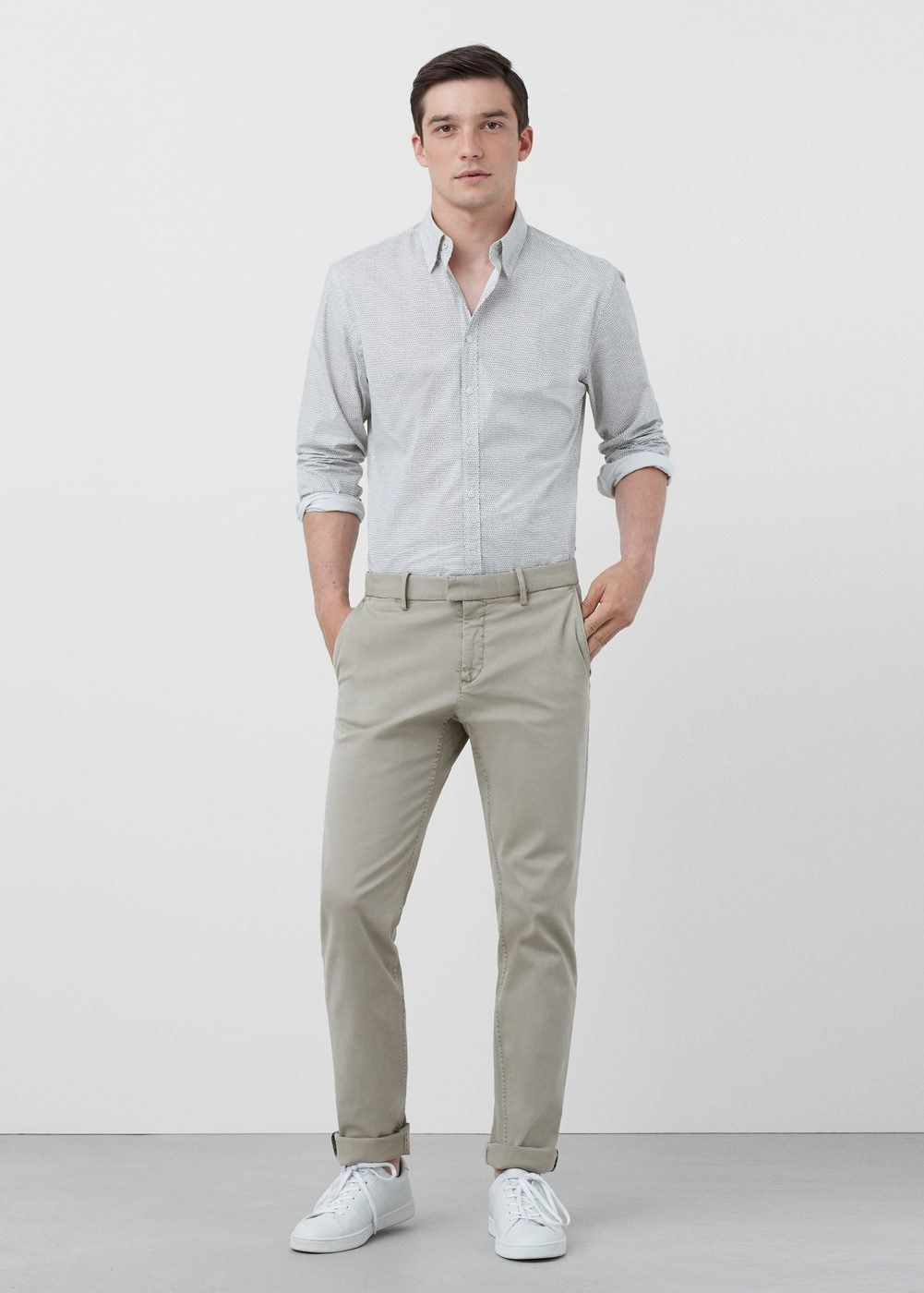 a3c2bf18eae82a Chino slim-fit garment-dyed - Hombre in 2019 | Le' Mode | Slim fit ...