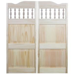 Pinecroft 32 in. x 42 in. Louvered Wood Cafe Door Natural/Unfinished  sc 1 st  Pinterest & Pinecroft 32 in. x 42 in. Louvered Wood Cafe Door Natural ...