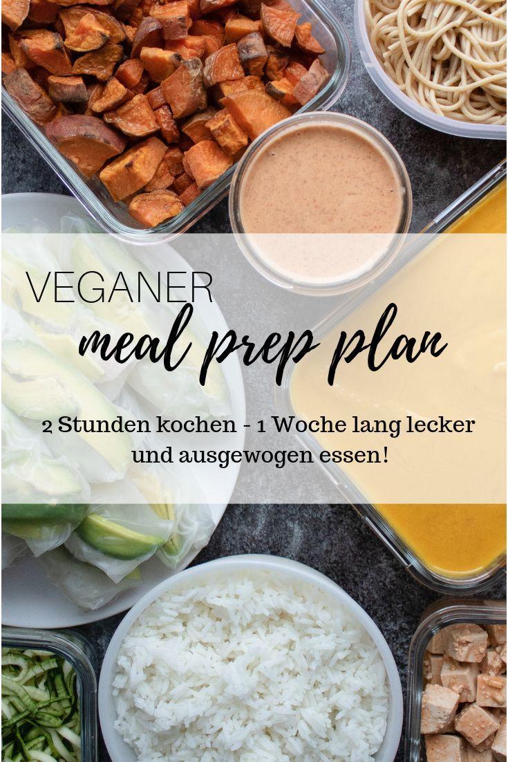 Veganer Meal Prep Plan - Rezepte & DIY #mealprepplans