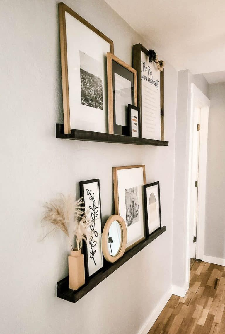 DIY Picture Ledge + Free Woodworking Plans