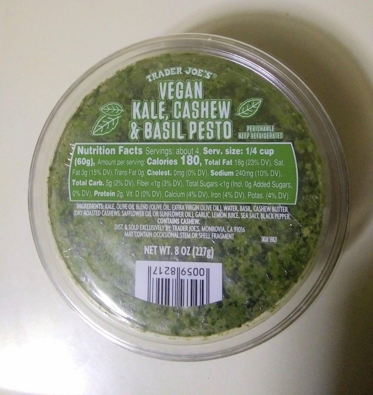Trader Joes Vegan Kale Cashew Basil Pesto Priscilla De Leon Trader Joes Vegan Trader Joes Cashew